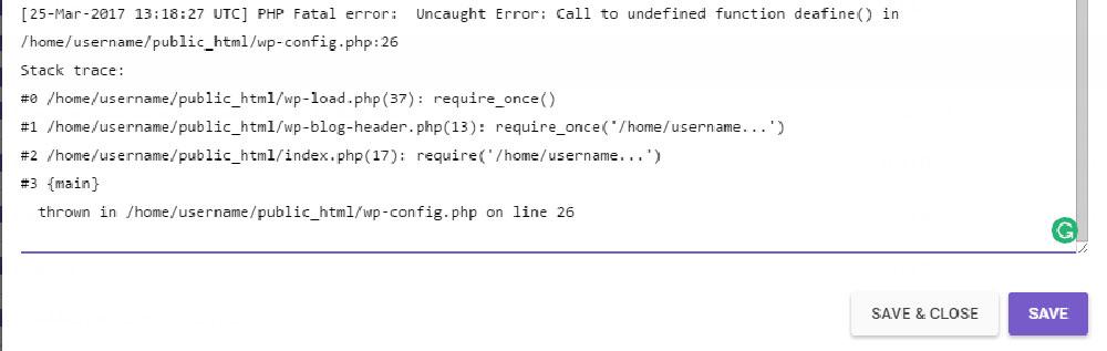 error-log-entry