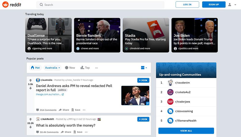 reddit-homepage